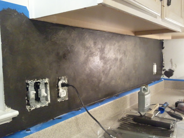 Painted Kitchen Backsplash Ideas Part - 33: Step 5 Stencil Application