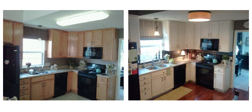(Above): Before U0026 After Pictures Of My Kitchen Transformation ...