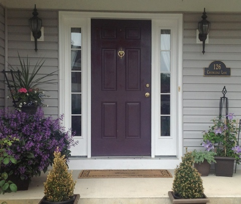 Purple front door paint