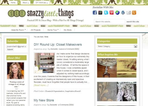 The New Site, http://snazzylittlethings.com